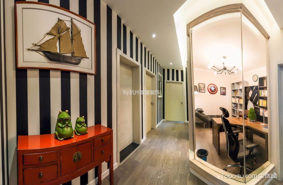 余杭区名城博园160平米混搭风格三居室装修效果图