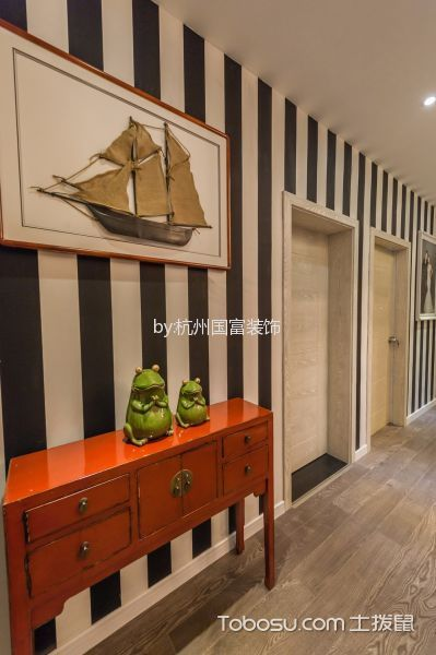 玄关 走廊_余杭区名城博园160平米混搭风格三居室装修效果图