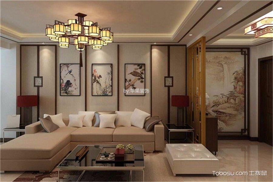 华景新城家庭120平米中式风格三居室装修效果图