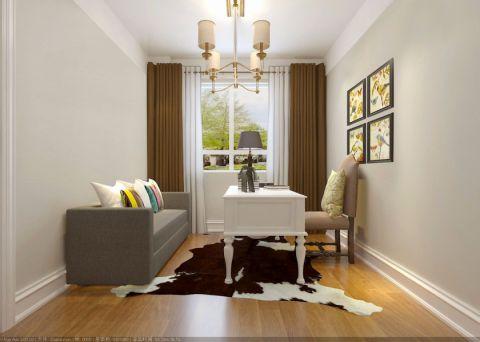 星河国际120平米欧式风格两居室装修效果图