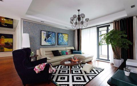 2019现代简约110平米装修图片 2019现代简约三居室装修设计图片