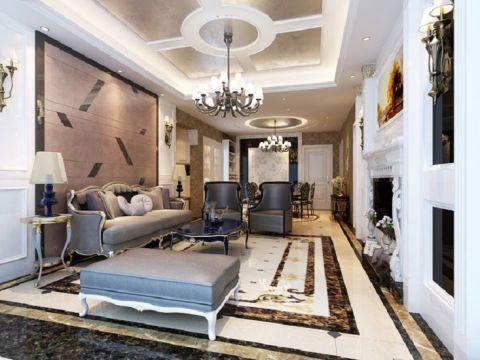 誉珑湖滨二期178平米古典风格三居室装修效果图