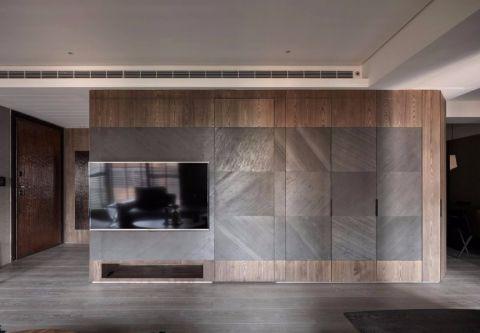 2018现代简约客厅装修设计 2018现代简约电视背景墙图片