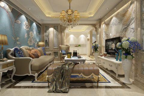 颐景湾畔120平米欧式风格三居室装修效果图