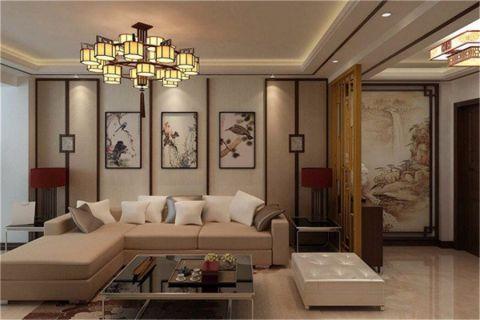 华景新城家庭120平米中式U乐国际三居室u乐娱乐平台优乐娱乐官网欢迎您