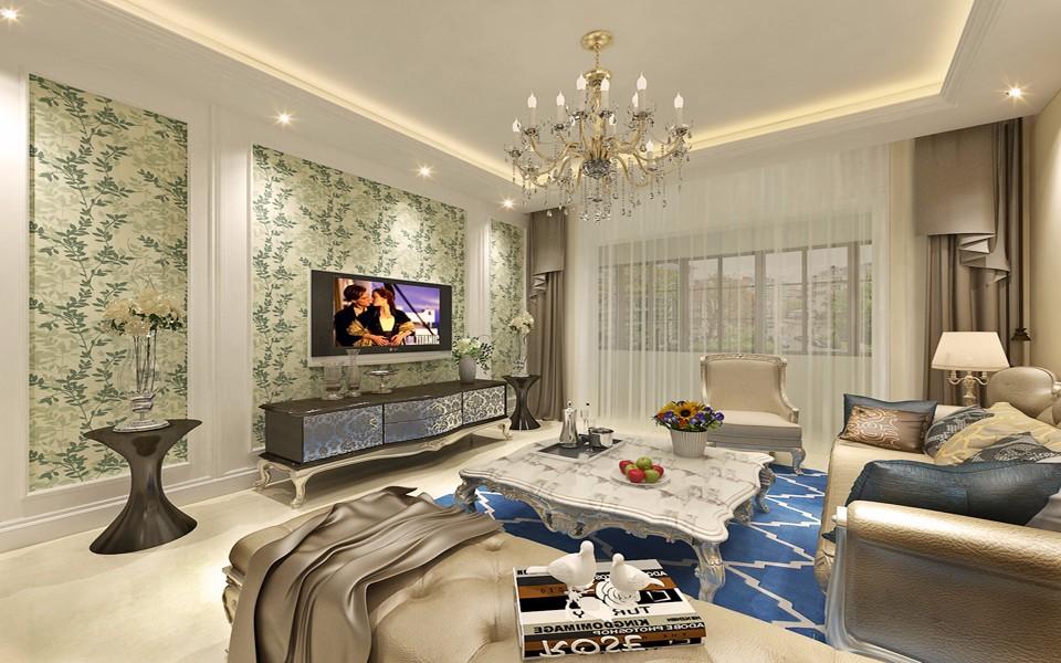 2室1卫2厅93平米简欧风格