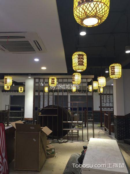 新中式餐饮店灯具实景图
