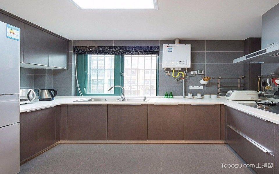 2021现代简约厨房装修图 2021现代简约地板砖装修设计图片