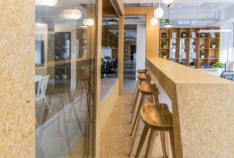 望京博泰1350平米现代简约风格写字楼装潢效果图