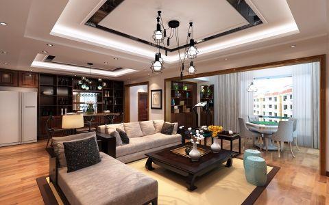 花果园新中式风格三居室效果