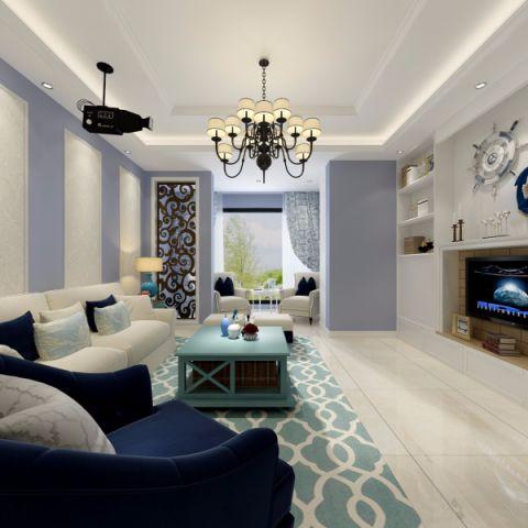 现代绿色客厅家装设计