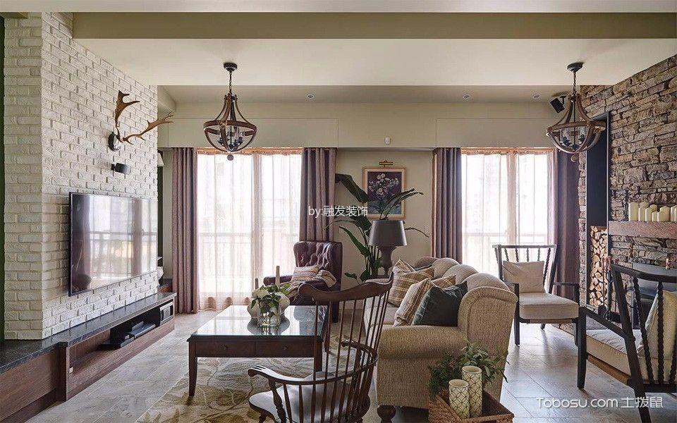 高贵风雅欧式田园风格咖啡色茶几装潢设计图片