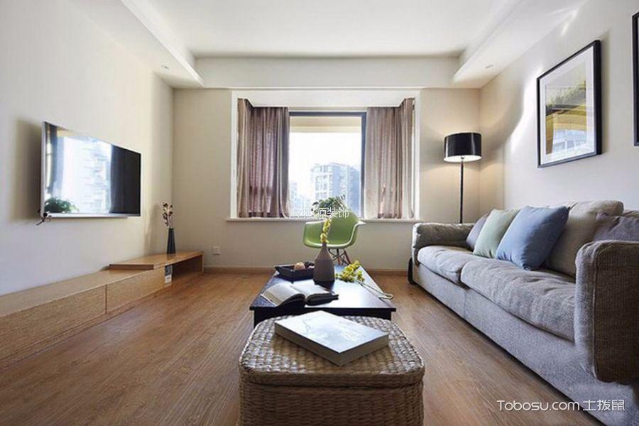 赞成乐山红叶现代简约三居室效果图
