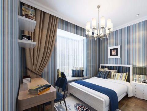 2019地中海90平米装饰设计 2019地中海三居室u乐娱乐平台设计图片