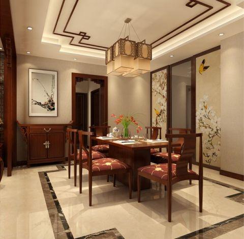 餐厅照片墙新中式风格装潢效果图