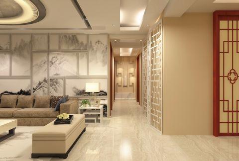 走廊新中式风格效果图