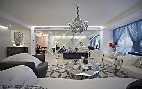 半岛豪庭三居室简约风格效果图