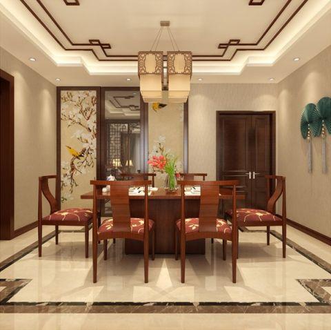 餐厅背景墙新中式风格效果图