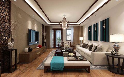 山水黔城中式风格三居室效果