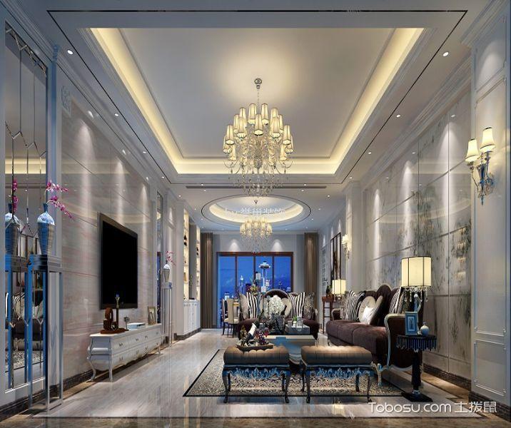简欧风格200平米四室两厅新房装修效果图