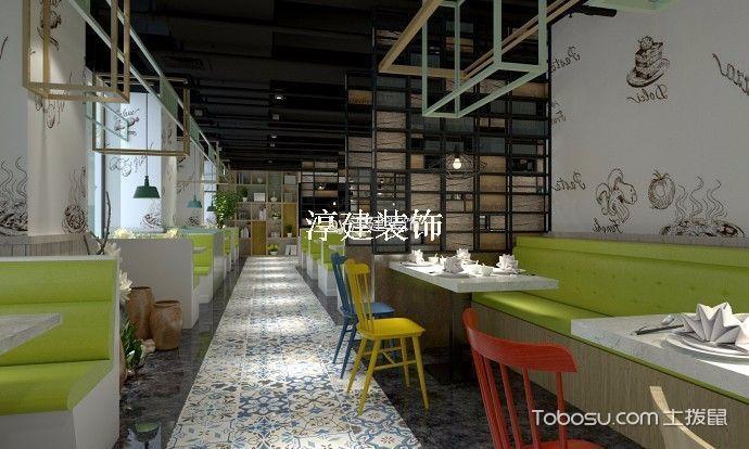 时尚风格餐饮店韩料理餐厅装潢实景图片