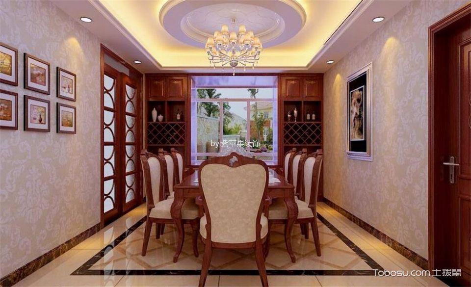 万水澜庭180平米红木色古典风格装修设计效果图