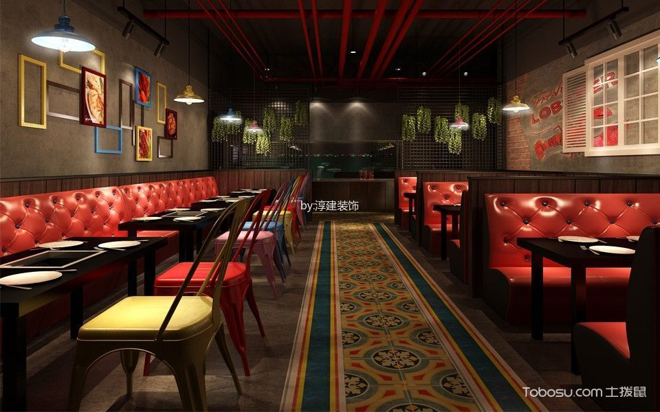 餐饮店餐厅装修实景图片