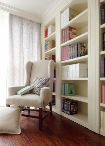 书房窗帘简约风格装潢设计图片