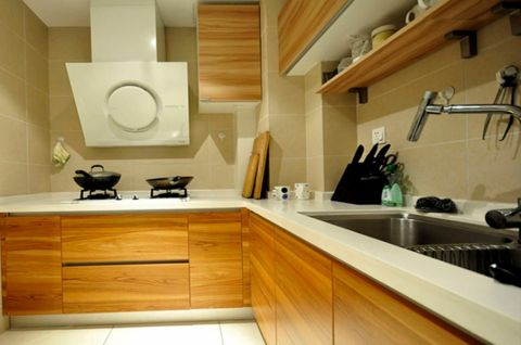 厨房吊顶现代简约风格装潢图片