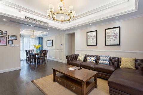 宏达世纪锦城美式风格三居室效果图