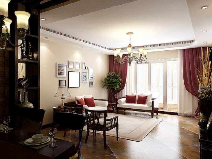 3室2卫1厅142平米中式风格