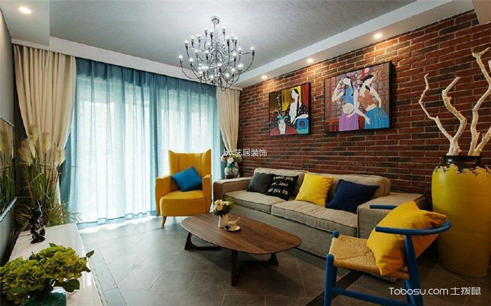 客厅 背景墙_金色港湾三居室现代风格装修效果图