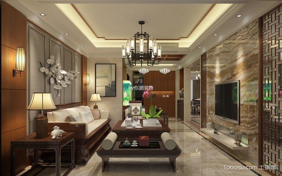 颐和盛世复式中式五居室装修效果图