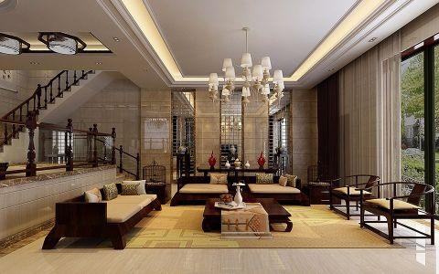 顺泰公寓117平新中式风格装修案例图