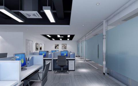 现代风格办公室工装效果图