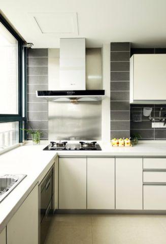厨房吊顶现代简约风格装修效果图