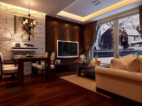 文兴苑145平米现代中式风格装修效果图