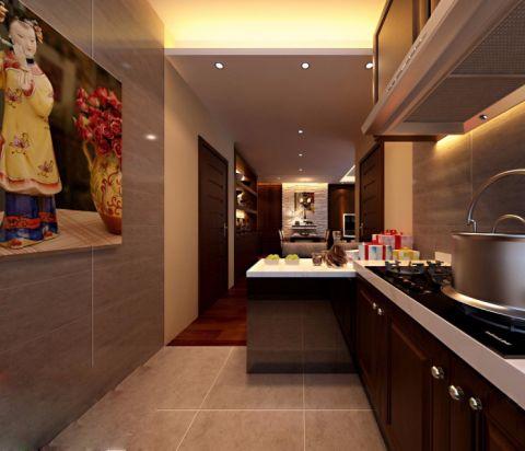 厨房背景墙新中式风格效果图