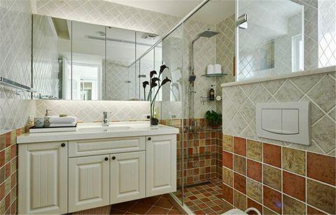 卫生间背景墙田园风格装饰设计图片