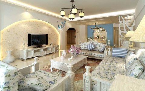 瑞城公寓地中海风格装修案例图