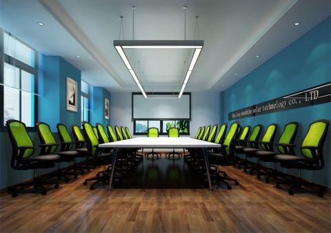 简约风格办公室工装效果图