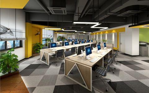 简约风格办公楼工装效果图