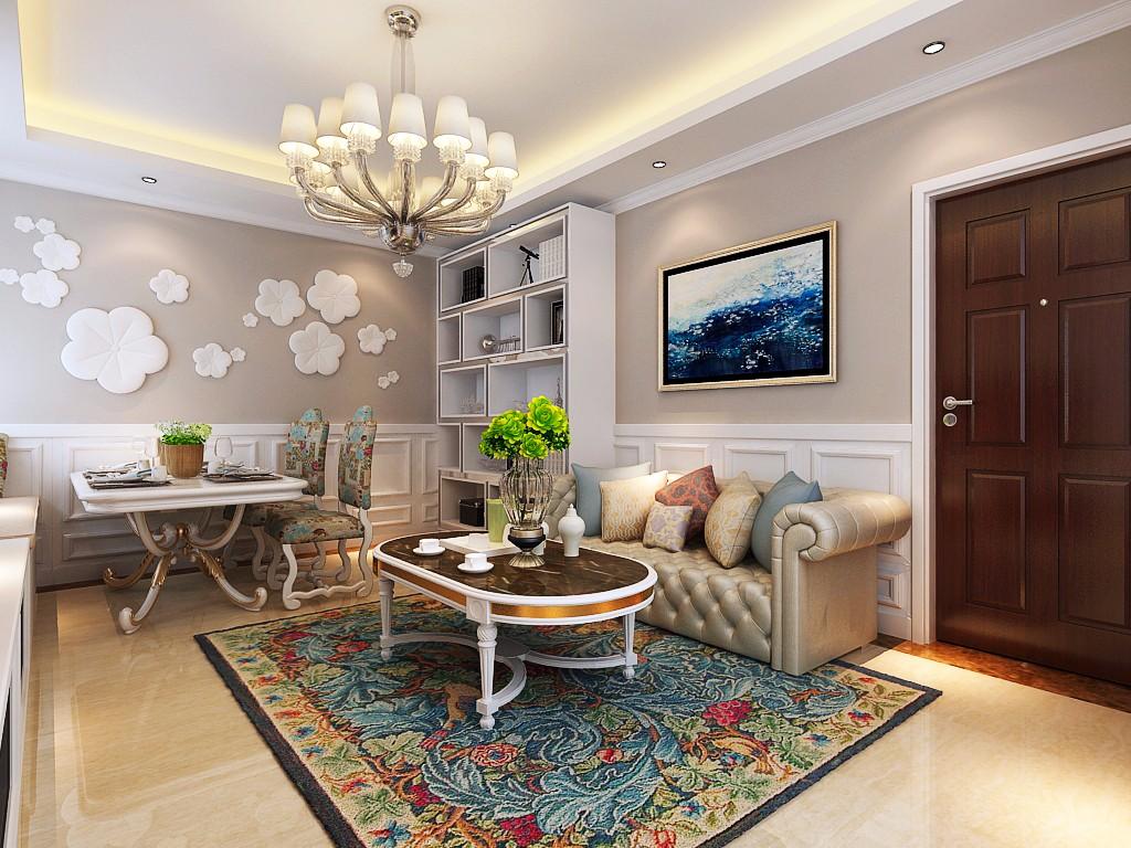 2室1卫1厅140平米欧式风格