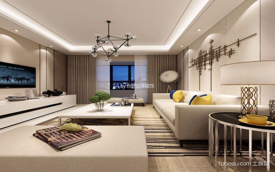 10万预算100平米三室两厅装修效果图
