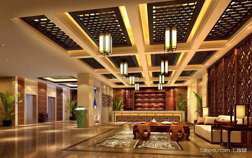 大酒店一层餐厅装饰实景图