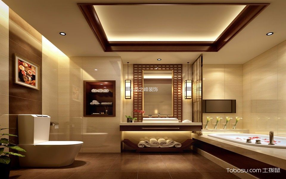 大酒店套房卫生间装潢图