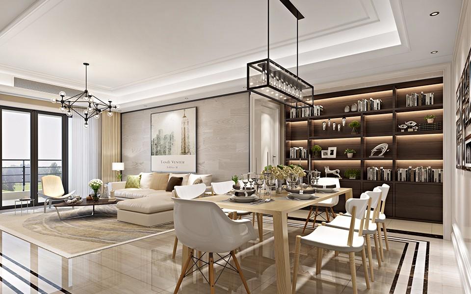 3室1卫1厅94平米现代风格