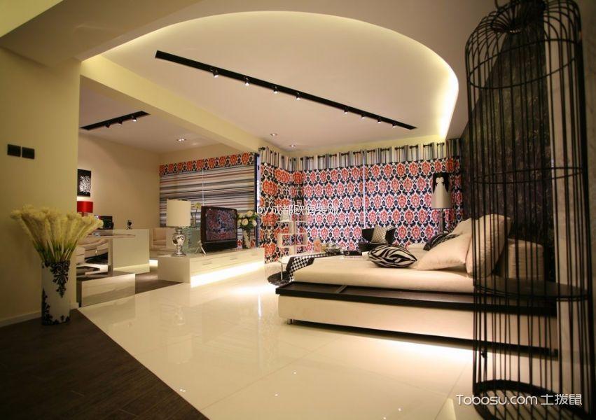 客厅黑色灯具现代简约风格装修图片
