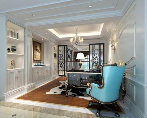 书房窗帘法式风格装修设计图片