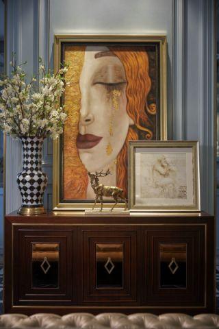 玄关背景墙新古典风格装饰设计图片